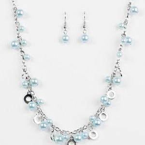 paparazzi Jewelry - Elegant Ensemble - Blue Necklace Set